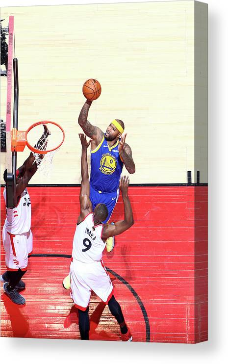 Playoffs Canvas Print featuring the photograph Demarcus Cousins by Nathaniel S. Butler