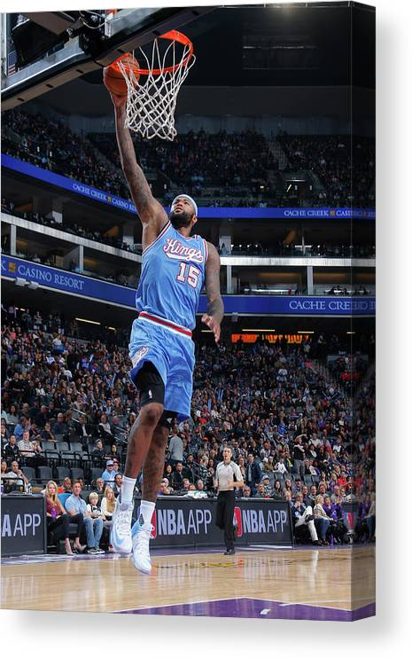 Nba Pro Basketball Canvas Print featuring the photograph Demarcus Cousins by Rocky Widner