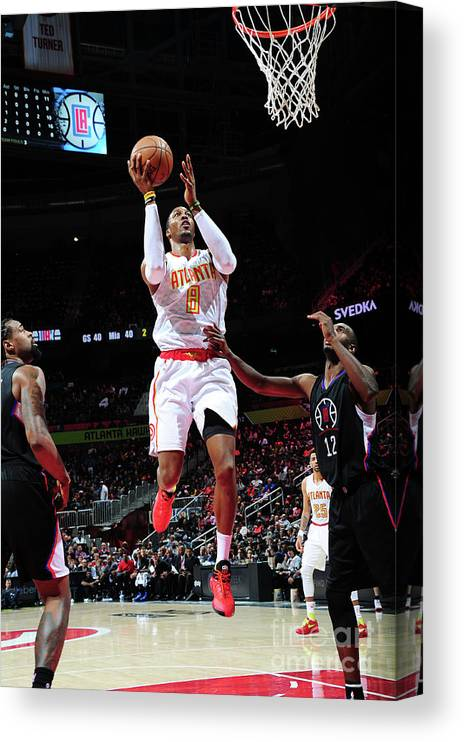 Atlanta Canvas Print featuring the photograph Dwight Howard by Scott Cunningham
