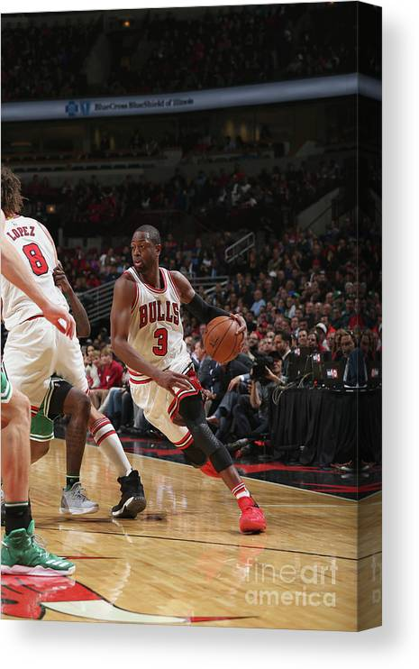 Nba Pro Basketball Canvas Print featuring the photograph Dwyane Wade by Gary Dineen