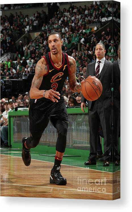 Nba Pro Basketball Canvas Print featuring the photograph George Hill by Nathaniel S. Butler