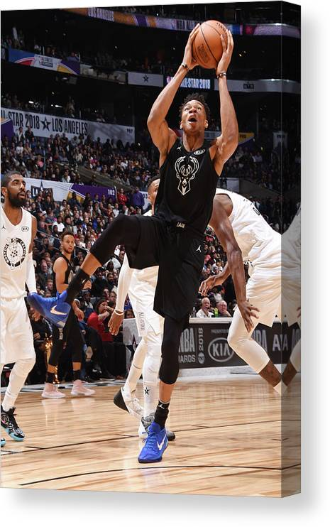 Nba Pro Basketball Canvas Print featuring the photograph Giannis Antetokounmpo by Andrew D. Bernstein