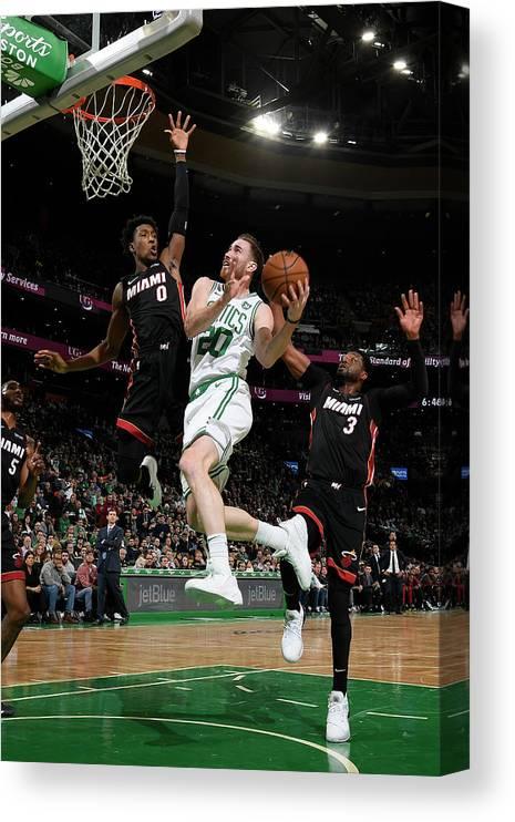 Nba Pro Basketball Canvas Print featuring the photograph Gordon Hayward by Brian Babineau
