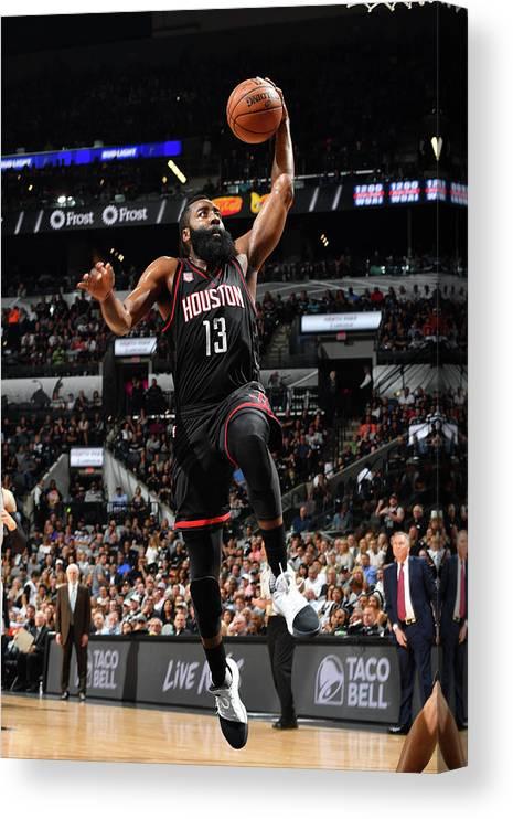 Playoffs Canvas Print featuring the photograph James Harden by Jesse D. Garrabrant