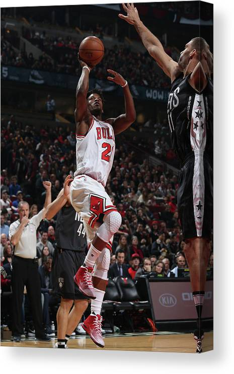 Nba Pro Basketball Canvas Print featuring the photograph Jimmy Butler by Gary Dineen