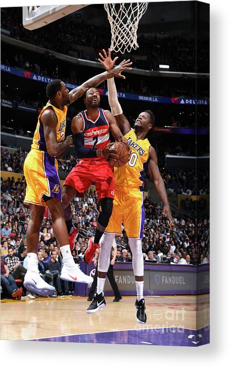 Nba Pro Basketball Canvas Print featuring the photograph John Wall by Andrew D. Bernstein