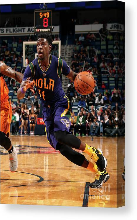 Smoothie King Center Canvas Print featuring the photograph Jrue Holiday by Layne Murdoch