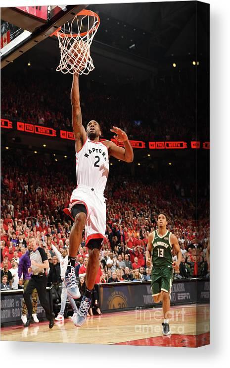 Playoffs Canvas Print featuring the photograph Kawhi Leonard by Ron Turenne
