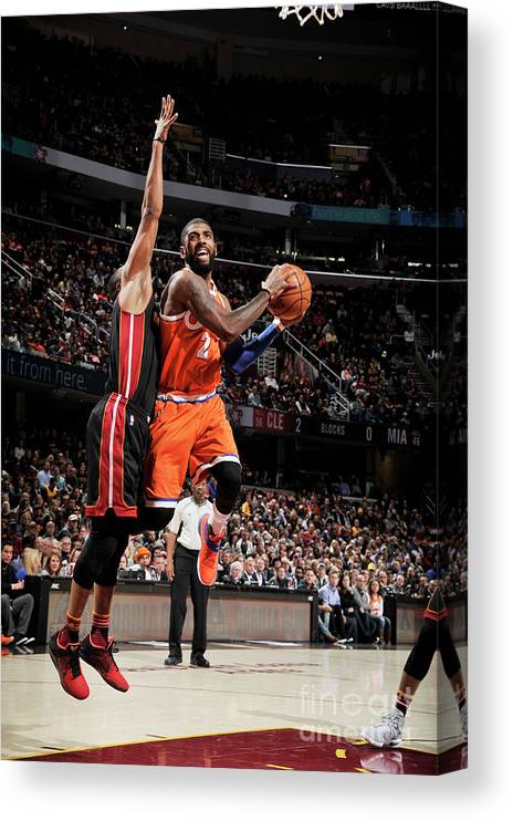 Nba Pro Basketball Canvas Print featuring the photograph Kyrie Irving by David Liam Kyle