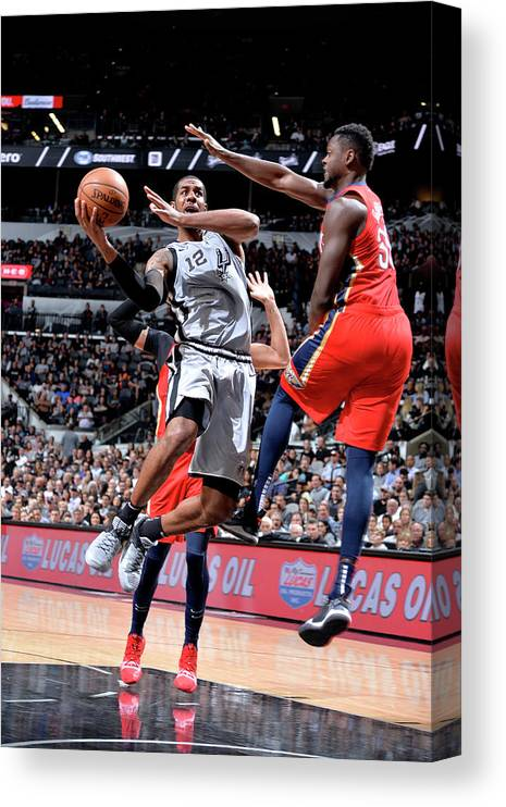 Nba Pro Basketball Canvas Print featuring the photograph Lamarcus Aldridge by Mark Sobhani