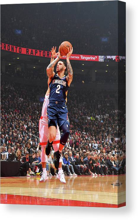 Nba Pro Basketball Canvas Print featuring the photograph Lonzo Ball by Jesse D. Garrabrant