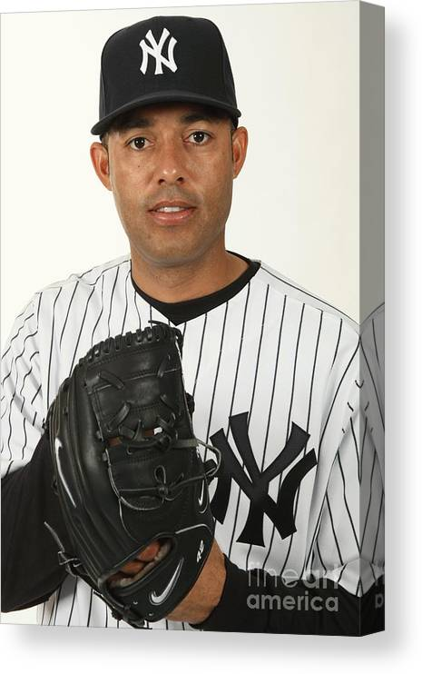 Media Day Canvas Print featuring the photograph Mariano Rivera by Nick Laham