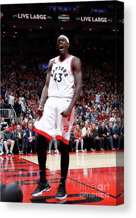 Playoffs Canvas Print featuring the photograph Pascal Siakam by Mark Blinch