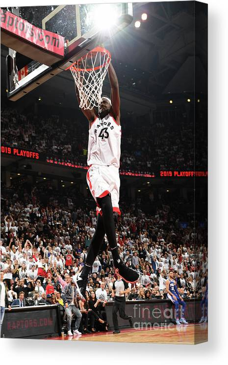 Playoffs Canvas Print featuring the photograph Pascal Siakam by Ron Turenne