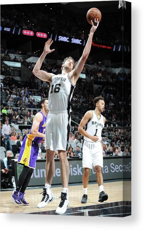 Nba Pro Basketball Canvas Print featuring the photograph Pau Gasol by Mark Sobhani