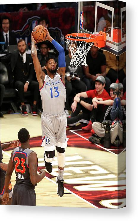 Event Canvas Print featuring the photograph Paul George by Layne Murdoch