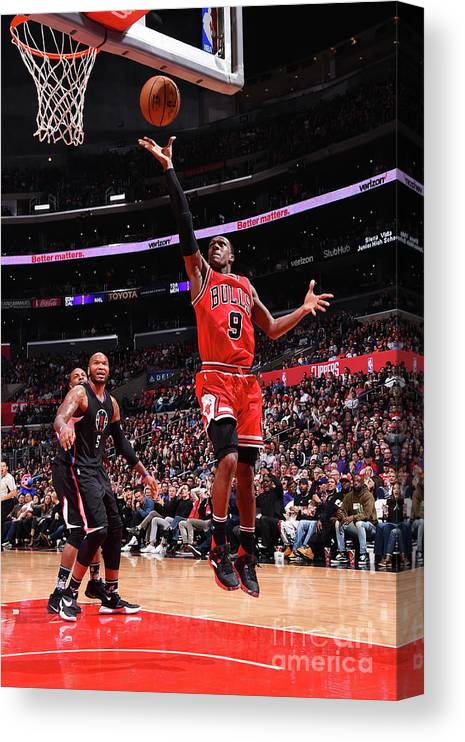 Nba Pro Basketball Canvas Print featuring the photograph Rajon Rondo by Andrew D. Bernstein