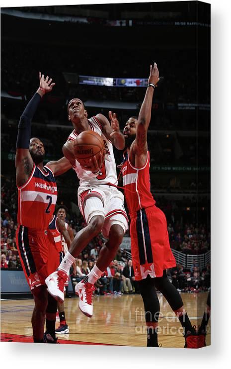 Nba Pro Basketball Canvas Print featuring the photograph Rajon Rondo by Gary Dineen