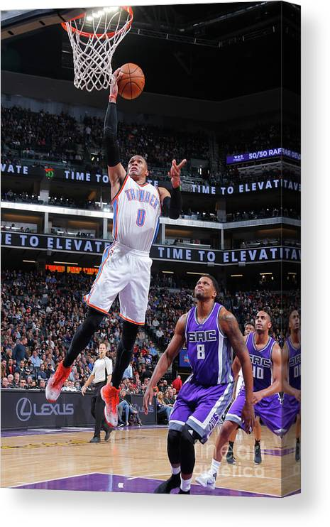 Nba Pro Basketball Canvas Print featuring the photograph Russell Westbrook by Rocky Widner