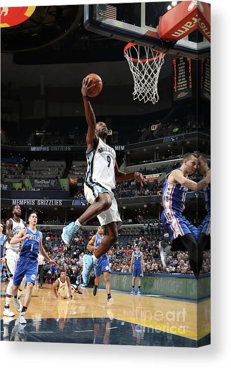 Nba Pro Basketball Canvas Print featuring the photograph Tony Allen by Joe Murphy