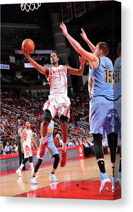 Nba Pro Basketball Canvas Print featuring the photograph Trevor Ariza by Bill Baptist