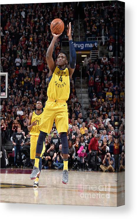 Playoffs Canvas Print featuring the photograph Victor Oladipo by David Liam Kyle