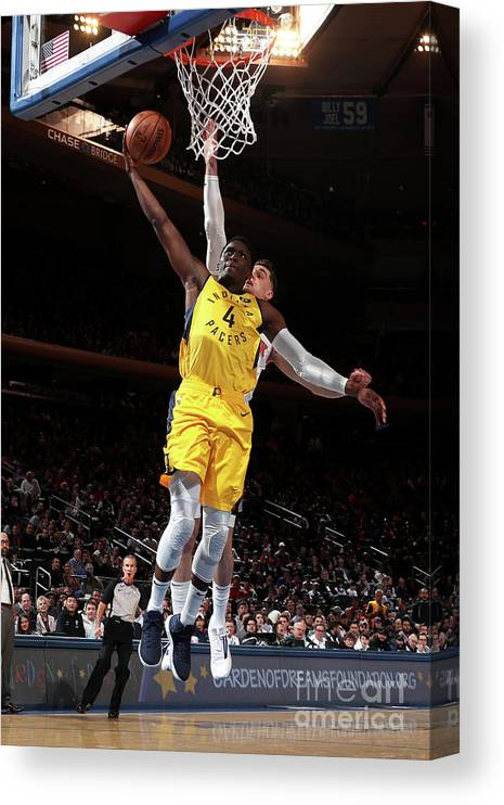 Nba Pro Basketball Canvas Print featuring the photograph Victor Oladipo by Nathaniel S. Butler