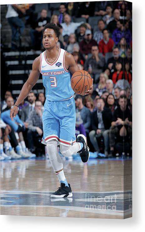 Nba Pro Basketball Canvas Print featuring the photograph Yogi Ferrell by Rocky Widner