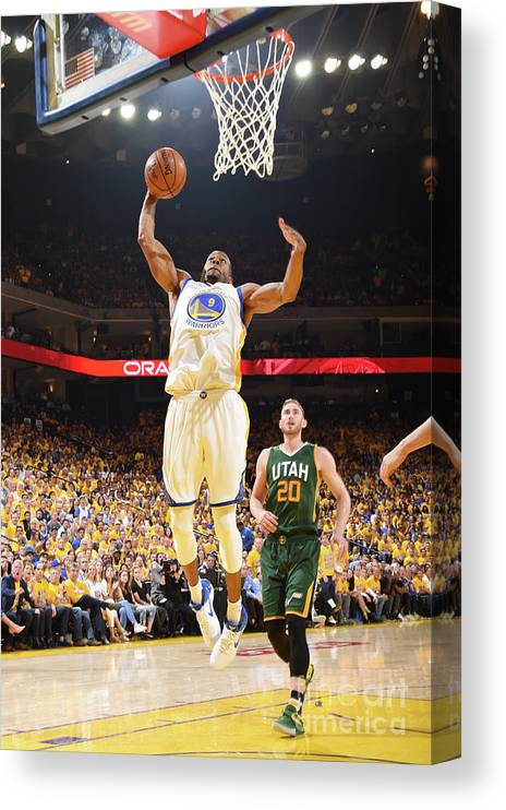 Playoffs Canvas Print featuring the photograph Andre Iguodala by Andrew D. Bernstein