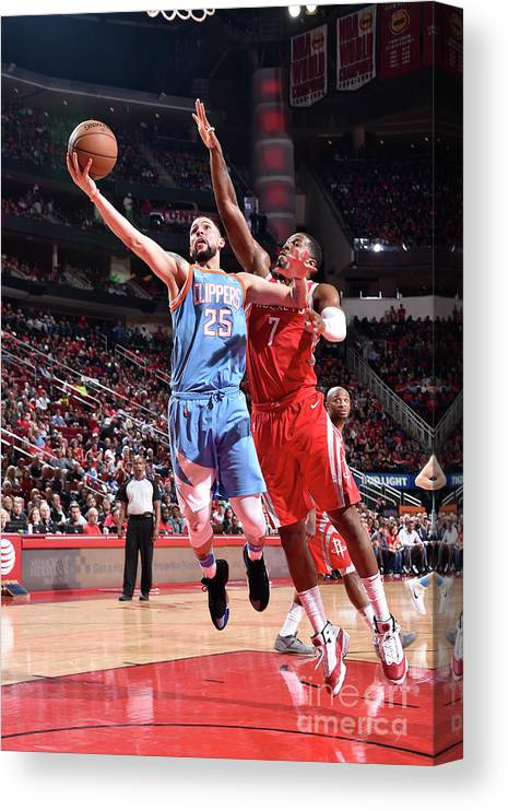 Nba Pro Basketball Canvas Print featuring the photograph Austin Rivers by Bill Baptist