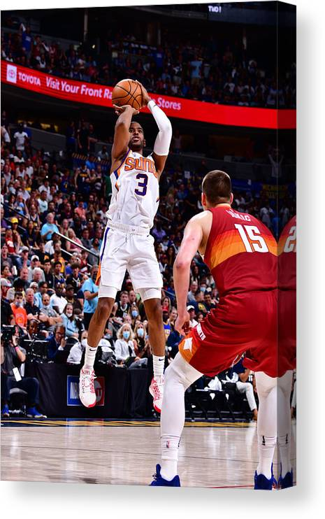 Playoffs Canvas Print featuring the photograph Chris Paul by Barry Gossage