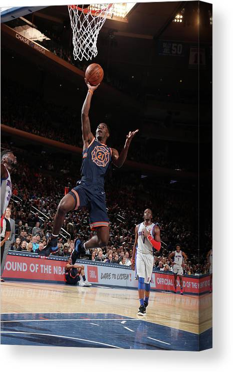 Nba Pro Basketball Canvas Print featuring the photograph Damyean Dotson by Nathaniel S. Butler
