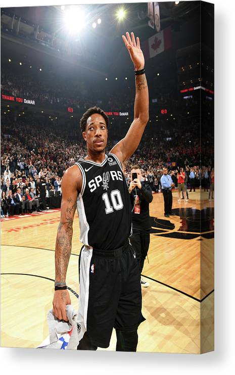 Thank You Canvas Print featuring the photograph Demar Derozan by Ron Turenne