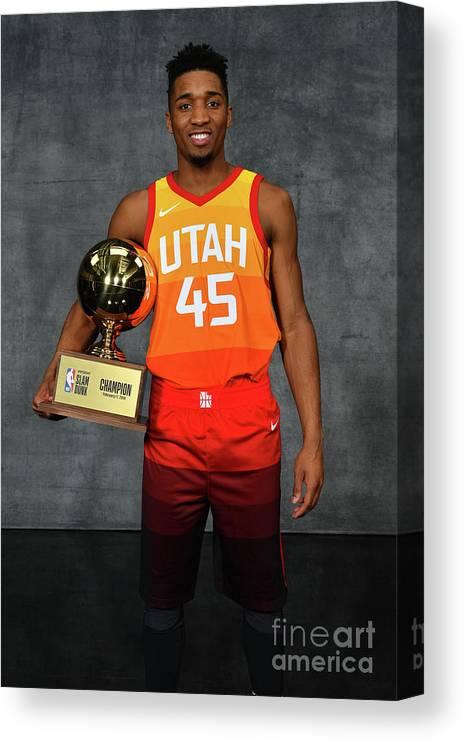 Nba Pro Basketball Canvas Print featuring the photograph Donovan Mitchell by Jesse D. Garrabrant