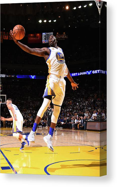Nba Pro Basketball Canvas Print featuring the photograph Draymond Green by Andrew D. Bernstein