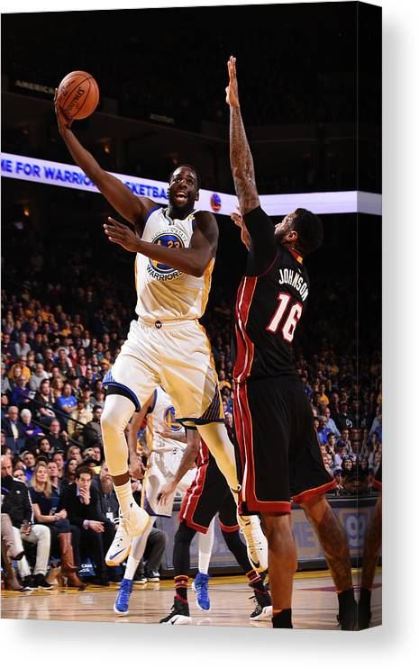 Nba Pro Basketball Canvas Print featuring the photograph Draymond Green by Noah Graham