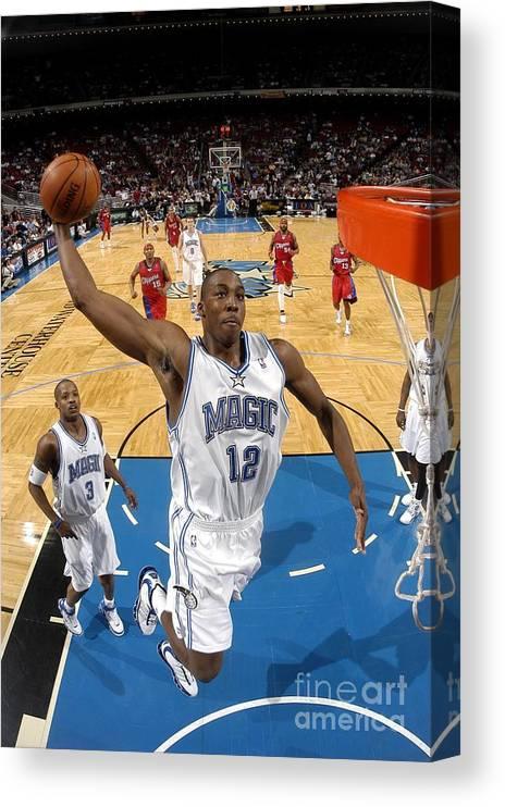 Nba Pro Basketball Canvas Print featuring the photograph Dwight Howard by Fernando Medina