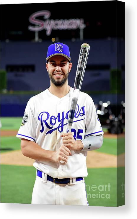 Three Quarter Length Canvas Print featuring the photograph Eric Hosmer by Harry How