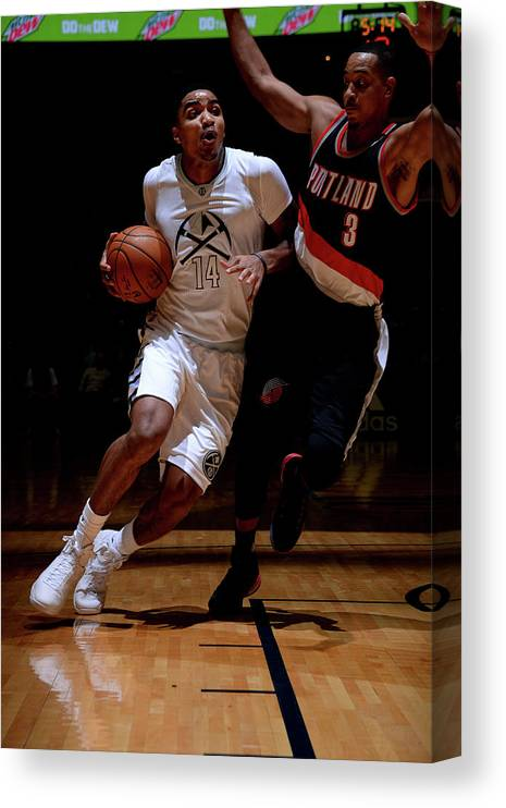 Nba Pro Basketball Canvas Print featuring the photograph Gary Harris by Bart Young