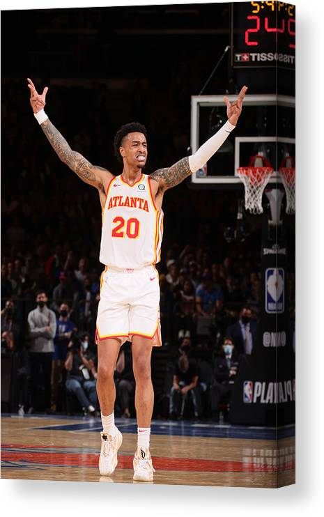 Playoffs Canvas Print featuring the photograph John Collins by Nathaniel S. Butler