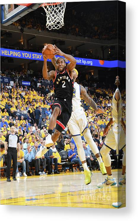 Playoffs Canvas Print featuring the photograph Kawhi Leonard by Andrew D. Bernstein