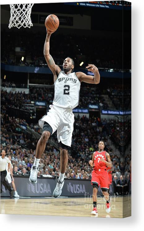 Nba Pro Basketball Canvas Print featuring the photograph Kawhi Leonard by Mark Sobhani