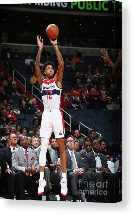 Nba Pro Basketball Canvas Print featuring the photograph Kelly Oubre by Ned Dishman