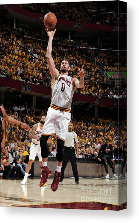 Playoffs Canvas Print featuring the photograph Kevin Love by David Liam Kyle