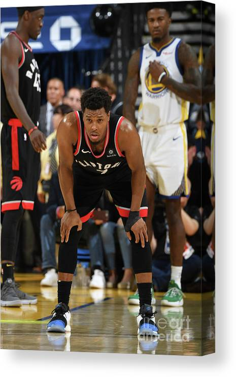 Playoffs Canvas Print featuring the photograph Kyle Lowry by Andrew D. Bernstein