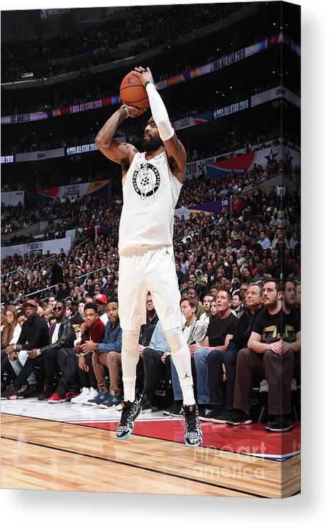 Nba Pro Basketball Canvas Print featuring the photograph Kyrie Irving by Andrew D. Bernstein