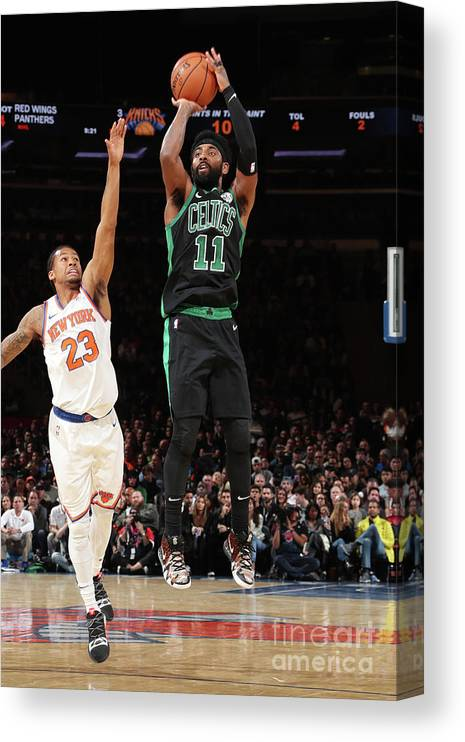 Nba Pro Basketball Canvas Print featuring the photograph Kyrie Irving by Nathaniel S. Butler