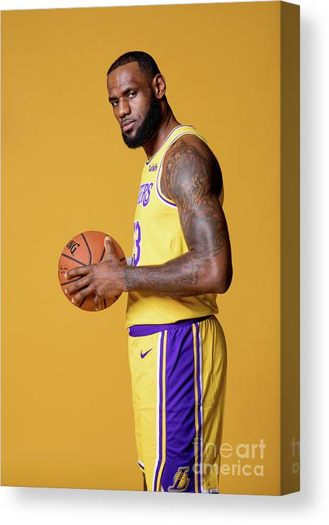 Media Day Canvas Print featuring the photograph Lebron James by Atiba Jefferson