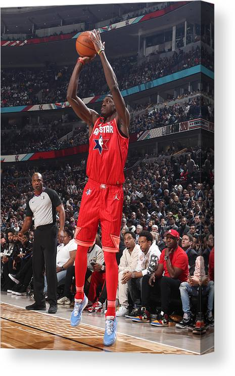 Nba Pro Basketball Canvas Print featuring the photograph Pascal Siakam by Nathaniel S. Butler