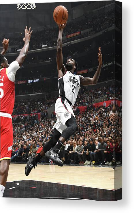 Nba Pro Basketball Canvas Print featuring the photograph Patrick Beverley by Andrew D. Bernstein